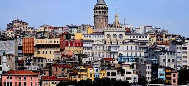 Стамбул вид с моря на город