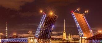 Развод моста Санкт-Петербург
