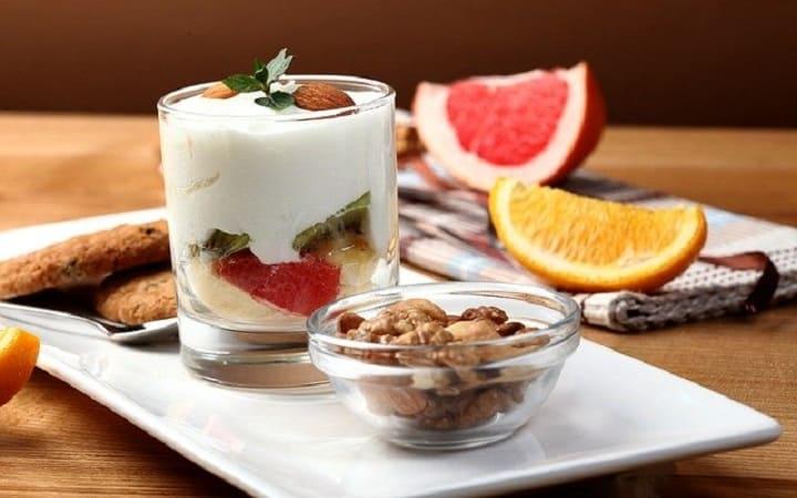 завтрак континентальный фрукты, десерт