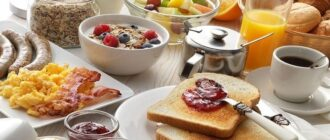 завтрак континентальный в гостинице